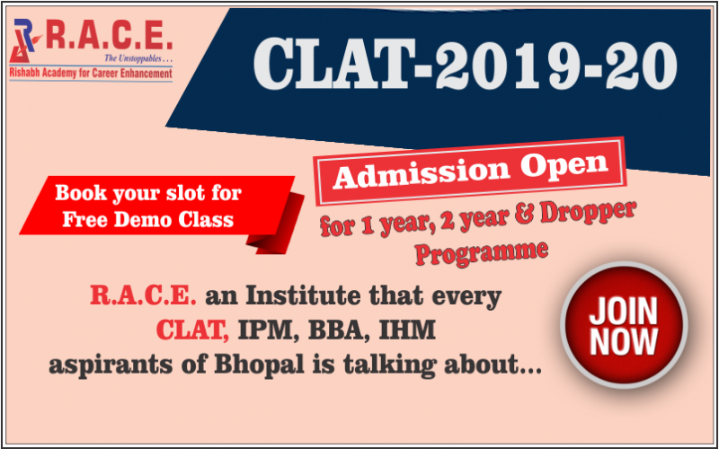 Welcome to Race Bhopl (Best Clat Coaching In Bhopal)